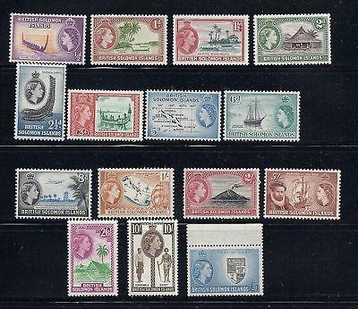 SOLOMON ISLANDS 1950s QE2 definitives COMPLETE VF MLH
