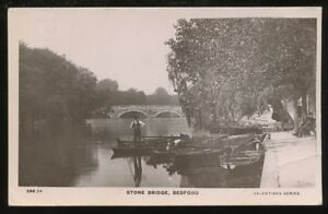 Beds-BEDFORD-Stone-Bridge-1907-RP-PPC