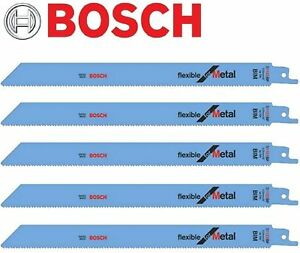 5-BOSCH-S1122BF-RECIPRICATING-SABRE-SAW-BLADES-METAL