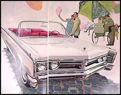 1966 Chrysler Original Color Brochure- Great ART 66
