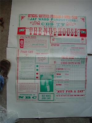 JAY WARD THE NUT HOUSE OFFICIAL SOUVENIR POSTER 1963