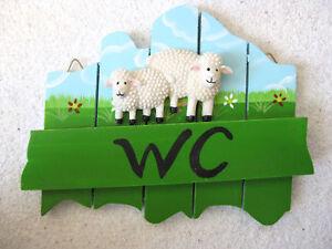 Wc panneau pour porte mouton en bois verni 18cm salle de bain ebay - Panneau bois pour salle de bain ...