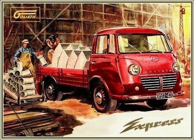 Farb-Plakat: Goliath Express LKW, 1957 (Lastwagen)