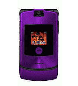new motorola razr v3 in purple unlocked mobile phone same. Black Bedroom Furniture Sets. Home Design Ideas