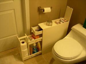 Slim-Bathroom-Floor-Toiletry-Storage-Cabinet-in-White