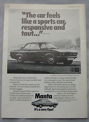 1971 Opel Manta Original advert No.1