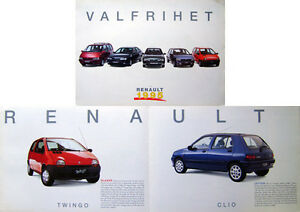 renault twingo clio 19 espace 1995 swedish brochure ebay. Black Bedroom Furniture Sets. Home Design Ideas
