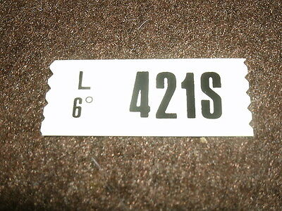 1969 Ford Mustang 428cj Auto Trans No A/c Engine Decal