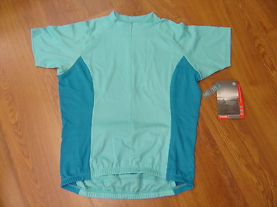Cycling Jersey Women Blue Brand Size 16-18