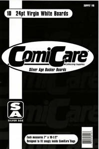 50 X COMICARE SILVER AGE COMIC BACKING BOARDS + BAGS