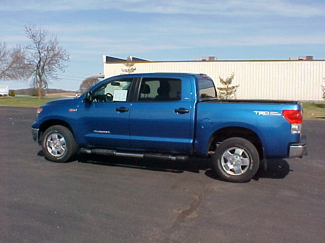 used 2008 blue toyota tundra trd sr5 crewmax 4x4 5 7. Black Bedroom Furniture Sets. Home Design Ideas