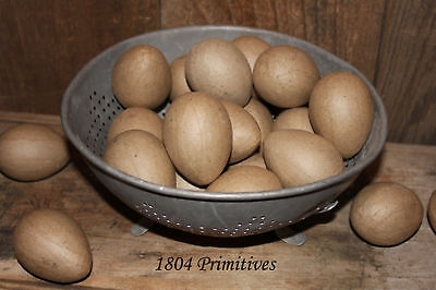 24 Unfinished Paper Mache Eggs Easter