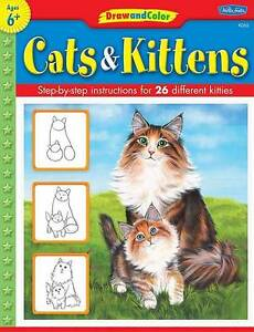 Draw and Color: Cats & Kittens-ExLibrary