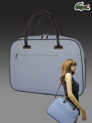 Lacoste Business Style Briefcase Bag Classic 2.11 Chrome Blue