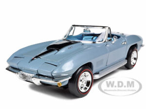 1967-CHEVROLET-CORVETTE-L88-BLUE-1-18-DIECAST-MODEL-CAR-BY-AUTOWORLD-AMM952