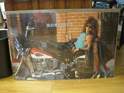 Bon Jovi Rock N Roll Original 1989' Vintage Poster 8354