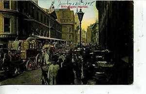 BILLINGSGATE LONDON ENGLAND DOWNTOWN STREET POSTCARD UK