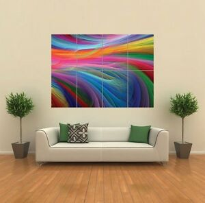 RAINBOW OCEAN GIANT WALL ART PRINT POSTER G793