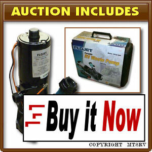 FLOJET-18555-000-Portable-Waste-Water-Pump-Kit-w-Case-RV-Trailer-Motorhome