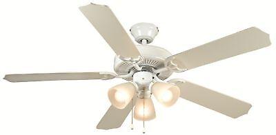 "52"" White Ceiling Fan With Light Kit 415919"