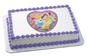 DISNEY PRINCESS FAIRYTALE EDIBLE CAKE DECORATION IMAGE