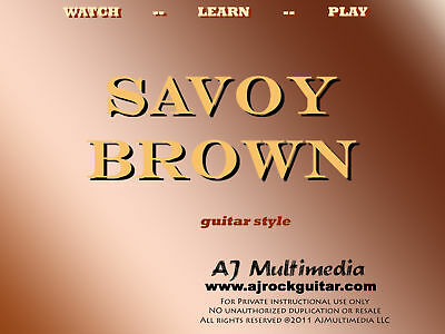 Custom Guitar Lessons, Learn Savoy Brown on Rummage