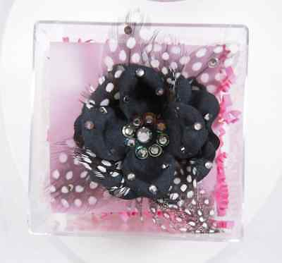Tarina Tarantino Feather Flower Anywhere Clip Black