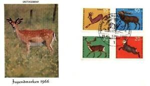Germany 1966 FDC 511-14a Animals Pets Tiere -  Dabrowa, Polska - Germany 1966 FDC 511-14a Animals Pets Tiere -  Dabrowa, Polska