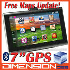 7 GPS Navigation Bluetooth AV-IN 4GB Card SpeedCam POI TTS Lastest Map
