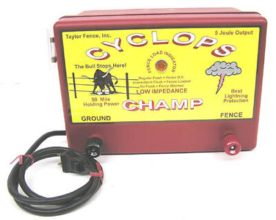 Cyclops Champ 5 Joule 50 Acre Ac Powered Electric Fence Charger Energizer