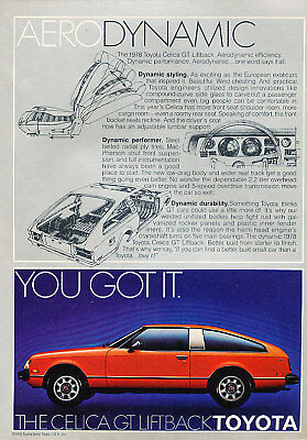 1978 Toyota Celica GT red Vintage Advertisement Ad P56