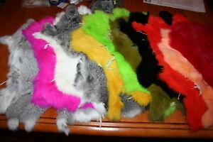 Fly-Tying-Hareline-Full-Dyed-Rabbit-Skin-Zonker-Lure