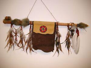 Indianer Friedenspfeife funktionsfähig 70 cm / pipe 70S