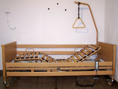 Voll elektrisches Krankenbett / Pflegebett von Burmeier  90 x 200 cm  #B2