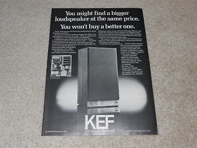 KEF 103.2 Speaker Ad, 1981, Article, 1 pg, Very Rare!