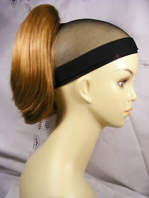 Hairpiece Claw/clip 9.0 Short,straight,synthetic Shades Of Reds