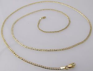 GOLD-CHAIN-2mm-10K-YELLOW-GOLD-18-D-C-CUBAN-LINK-NECKLACE-CHAIN-FREE-SHIP