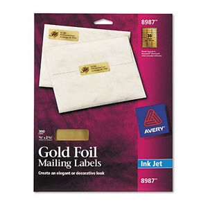 Avery Dennison Ave-8987 Glod Foil Address Label - 0 75