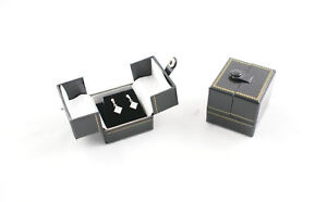 10-x-Double-Door-Snap-Tab-Leatherette-Earring-Boxes
