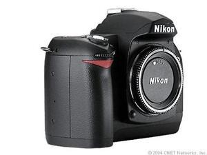Nikon D70 6.1 MP Digital SLR Camera - Bl...