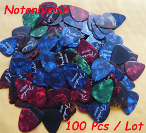 Lots of 100 pcs 0.71mm Medium guitar picks Celluloid 1