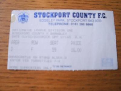 03/03/2000 Ticket: Stockport County v Barnsley  (Folded