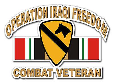 "Operation Iraqi Freedom 1st Cavalry Div 5.5"" Car Window Sticker Decal"