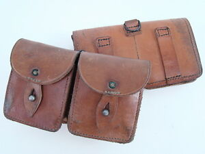 French-Mas-49-56-Leather-Ammo-Pouch-Set-of-2