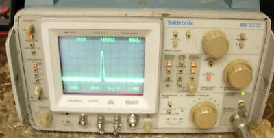Tektronix 492 Tek Spectrum Analyzer Opt 12 Works