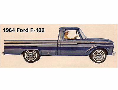 1964 Ford F-100 Pickup Truck Refrigerator / Tool Box Magnet