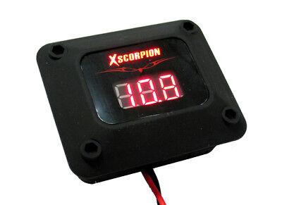 Digital 12v Red Led Voltage Volt Meter Amp Car Battery Black Finish Car Audio