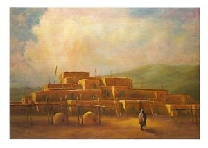 Robert-Hessemer-Untitled-Work-of-PUEBLOS-Blank-Notecard-Southwest-Themed
