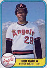 Rod Carew Single Baseball Cards
