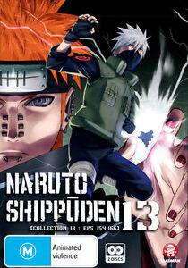 Naruto Shippuden : Collection 13 : Eps 154-166 (DVD, 2013, 2-Disc Set) R/4